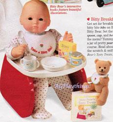 Brand New American Girl Bitty Baby/'s BIB From Breakfast Set Twins