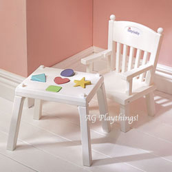 American Girl Bitty Baby Pink High Chair Attaches to Table
