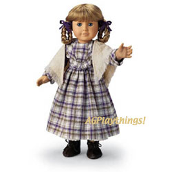 Pleasant Company American Girl Doll Kirsten Red Winter Heart Skating Scarf