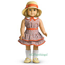 NEW American Girl KIT/'S SCHOOL SKIRT SET Sweater Dress Hat Outfit Shoes for Doll