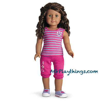 292b8c3f05f Campus Casual Outfit for Dolls + Charm Item# T6605 $24. Your girl can dress  her doll for a casual day at Innerstar University™! This outfit features: