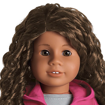 "Medium Skin, Dark Brown Curly Hair, Light Brown""amber"" Eyes"