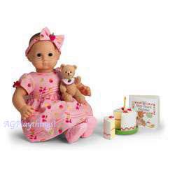 Pleasant Co American Girl Christmas Winter Fun Bitty Baby Bear HEADBAND /& Bib